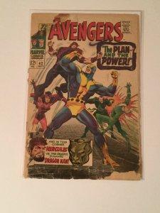 Avengers 42 Coverless No Back Cover Marvel Comics