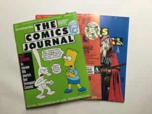 Comics Journal 141 142 144 Lot Magazine Near Mint- Nm- 9.2 Pacific Comics
