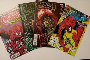 CARNAGE lot: Amazing Spiderman 345, Carnage Vol2 1 & 2, Mindbomb True Believers!