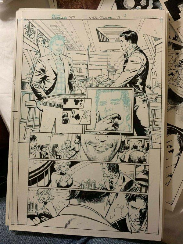 Nightwing 32  Rebirth page 6 Original art  Scot Eaton/Wayne Faucher