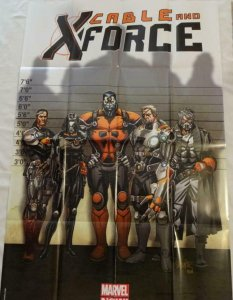 CABLE AND X-FORCE Promo Poster, 24 x 36, 2012, MARVEL, Unused 136