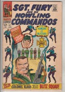 Sgt. Fury and His Howling Commandos #41 (Apr-67) FN/VF Mid-High-Grade Sgt. Fu...