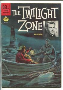 TWILIGHT ZONE #1173 1961-DELL-FOUR COLOR-1ST ISSUE-ROD SERLING-REED CRANDALL-fn-