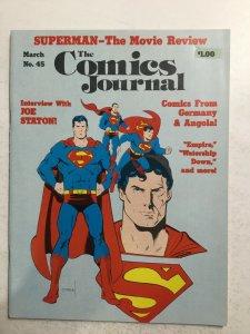 Comics Journal No.45 Magazine Very Fine Vf 8.0 Fantagraphics