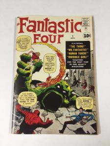 Fantastic Four 1 (coverless) Includes A Facsimilie Cover See Photos