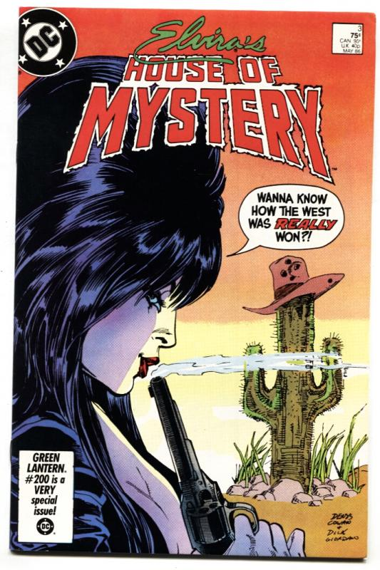 ELVIRA'S HOUSE OF MYSTERY #3 1986 cool cover - comic book