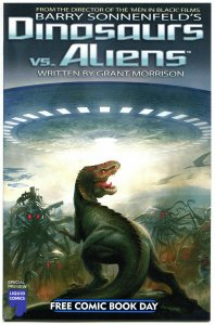 DINOSAURS vs ALIENS, NM, FCBD, Grant Morrison, T-Rex, Barry Sonnenfeld,  2012