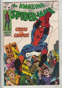Amazing Spider-Man #68 (Jan-69) FN/VF Mid-High-Grade Spider-Man