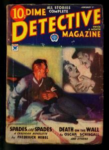 Dime Detective Pulp 1/1/34- Frederick Nebel-Oscar Schisgall G/VG