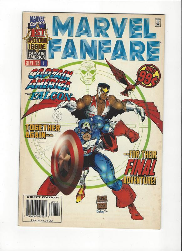 MARVEL FANFARE #1 CAPTAIN AMERICA AND FALCON NM