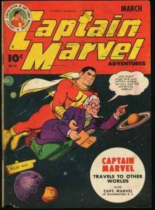 CAPTAIN MARVEL ADVENTURES #44-FAWCETT-very good minus VG-