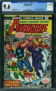 Avengers #122 (Marvel, 1974) CGC 9.6