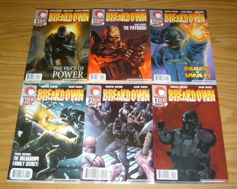 Breakdown #1-6 VF/NM complete series CHUCK DIXON devil's due comics 2004