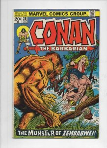 CONAN the BARBARIAN #28 FN, Buscema, Ernie Chan, Howard, 1970 1973