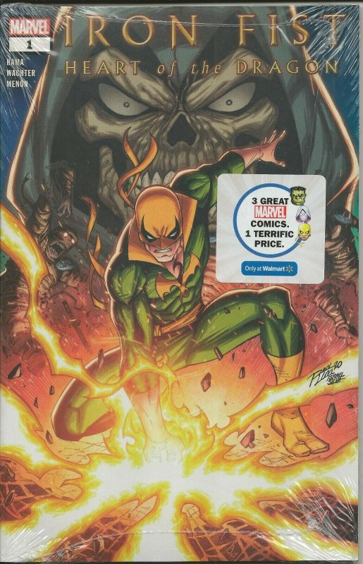 Iron Fist Heart of the Dragon #1 2021 Walmart Exclusive Marvel Comics 3 Pack