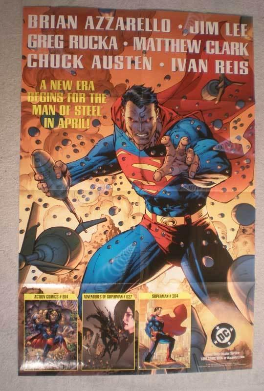 MAN OF STEEL Promo Poster, SUPERMAN, 22x34, 2004, Unused, more Promos in store