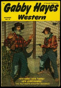 Gabby Hayes Western #10 1949- Fawcett- Photo cover FN+