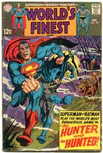 WORLDS FINEST #181 1968-BATMAN-SUPERMAN-BIZARRO ISSUE G/VG