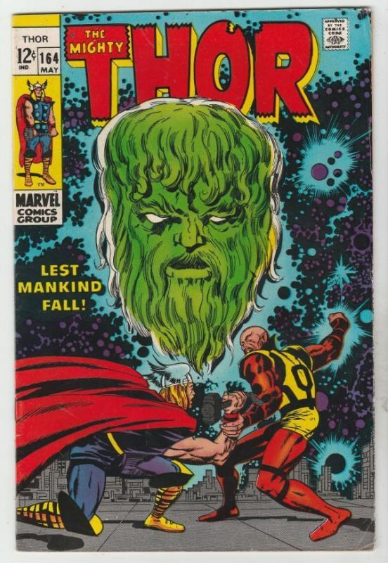 Thor #164 The Mighty strict VG/FN  5.0  Appearance - Him, becomes Warlock