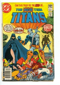 NEW TEEN TITANS #2- comic book-First DEATHSTROKE-1980