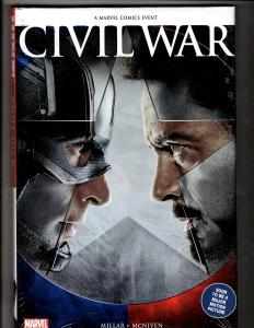 Civil War Marvel Comics SEALED HARDCOVER Graphic Novel Comic Book Millar J300