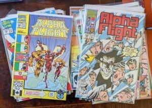 Alpha Flight! 35 Book Lot!Excellent Condition! KEYS! Copper Age!