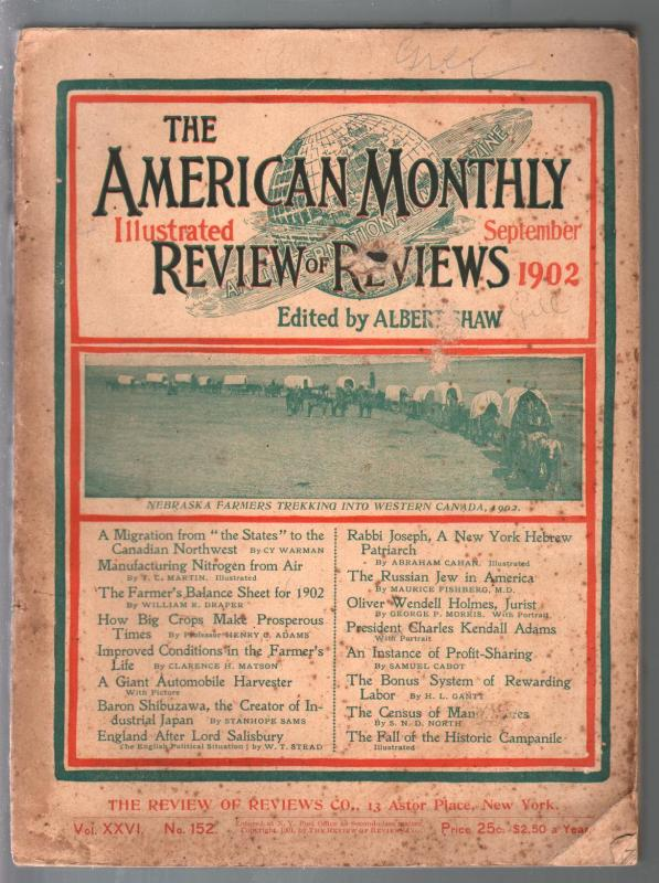 American Monthly Review of Reviews 9/1902-progress of the world-Frank Opper-G