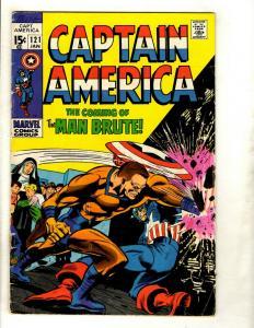 Captain America # 121 VG Marvel Comic Book Avengers Hulk Thor Iron Man GK2