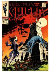 NICK FURY, AGENT OF SHIELD #3 comic book 1968-MARVEL-STERANKO-VG/FN