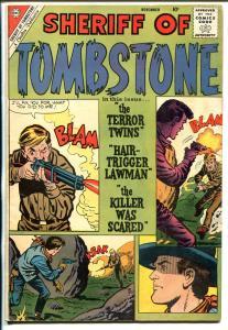 Sheriff of Tombstone #12 1960-Charlton-western thrills-Jack keller-Rocky Lane-VG