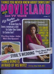 Movieland And TV Time-Barbara Parkins-Sean Connery-David McCallum-Sept-1965