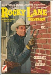 Rocky Lane Western #19 1950-Fawcett- B-Western movie star photo cover-VG