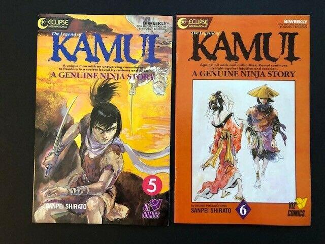 LOT of 10~Eclipse Comics~KAMUI A Genuine Ninja Story #5-11,13,16-17 VF (A184)