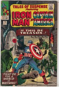 Tales of Suspense #70 (Oct-65) FN- Mid-Grade Iron Man, Captain America, Bucky...