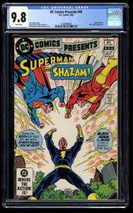 DC Comics Presents #49 CGC NM/M 9.8 White Pages Shazam + Superman VS Black Adam!
