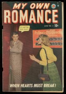 MY OWN ROMANCE #6 1949-MARVEL COMICS-PHOTO COVER VG
