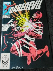 Daredevil #203 (Feb 1984, Marvel) John Byrne cover HIGH GRADE