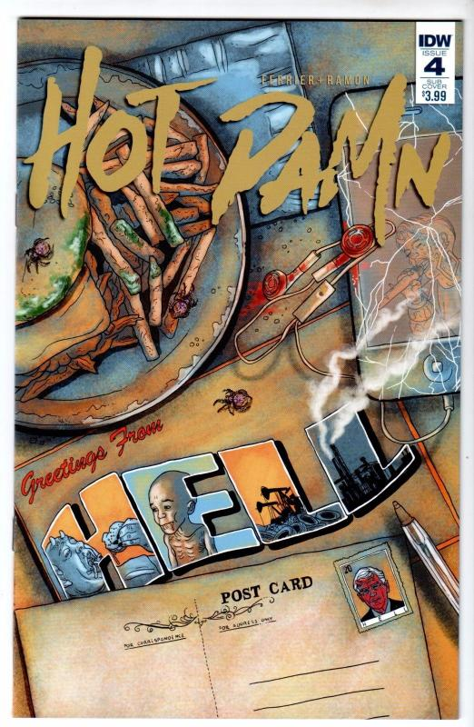Hot Damn #4 - Subscription Variant (IDW, 2016) - New/Unread (NM)
