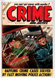 CRIME AND JUSTICE COMICS #21-CHARLTON PRE-CODE --1954-JOE SHUSTER ART-'54 G
