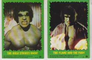 Incredible Hulk Trading Cards(Topps, 1979)
