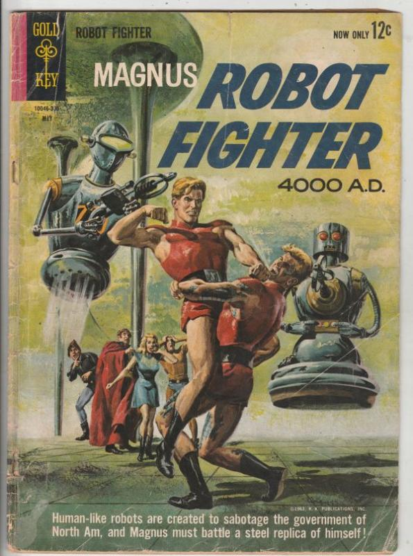 Magnus Robot Fighter #2 (May-63) VG- Affordable-Grade Magnus Robot Fighter