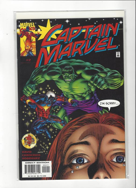 Captain Marvel #2 (2002) Vs The Hulk Marvel Comics NM