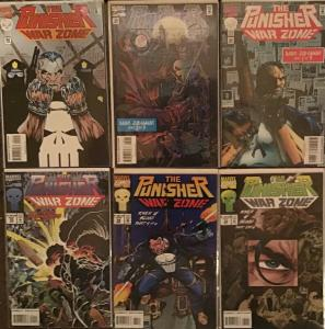 PUNISHER WAR ZONE (MARVEL)#32,34,35,38,39,40  6 BOOK LOT ALL UNREAD NM CONDITION