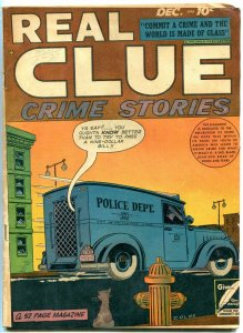 REAL CLUE CRIME STORIES Vol.3 #10 1948-EYE INJURY-big bertha vg