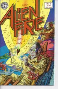 ALIEN FIRE #1, VF, Sci-Fi, Aliens, UFO, 1987, more indies in store