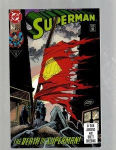 Superman # 75 NM 4th Print DC Comic Book Doomsday Death Of Superman Key J450