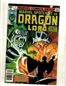 Marvel Spotlight On Dragon Lord # 5 VF Marvel Comic Book  WS9