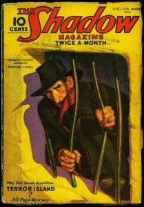 The Shadow Pulp April 15 1936- Terror Island- Maxwell Grant VG