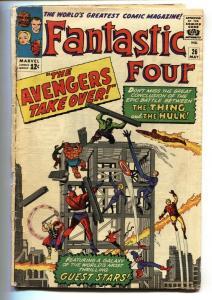 FANTASTIC FOUR #26 1964-MARVEL-AVENGERS cross over