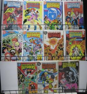 ADVENTURES OF THE OUTSIDERS (DC, 1983) #33-41,45,46! The book beyond Batman!